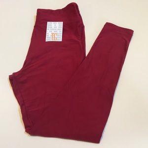 Lularoe leggings solid pink Size TC New